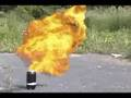 Diet Coke + Mentos LITERALLY EXPLODES WITH FIRE!!!