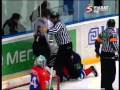 KHL fight: Sandis Ozolinsh vs. Martin Strbak 19.03.10