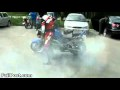Motorcycle Burnout Fail