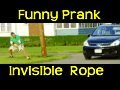 Funny - Invisible Rope Prank II
